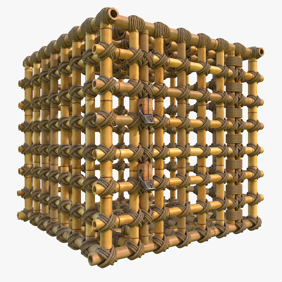 Jungle Bamboo Cage royalty-free 3d model - Preview no. 1