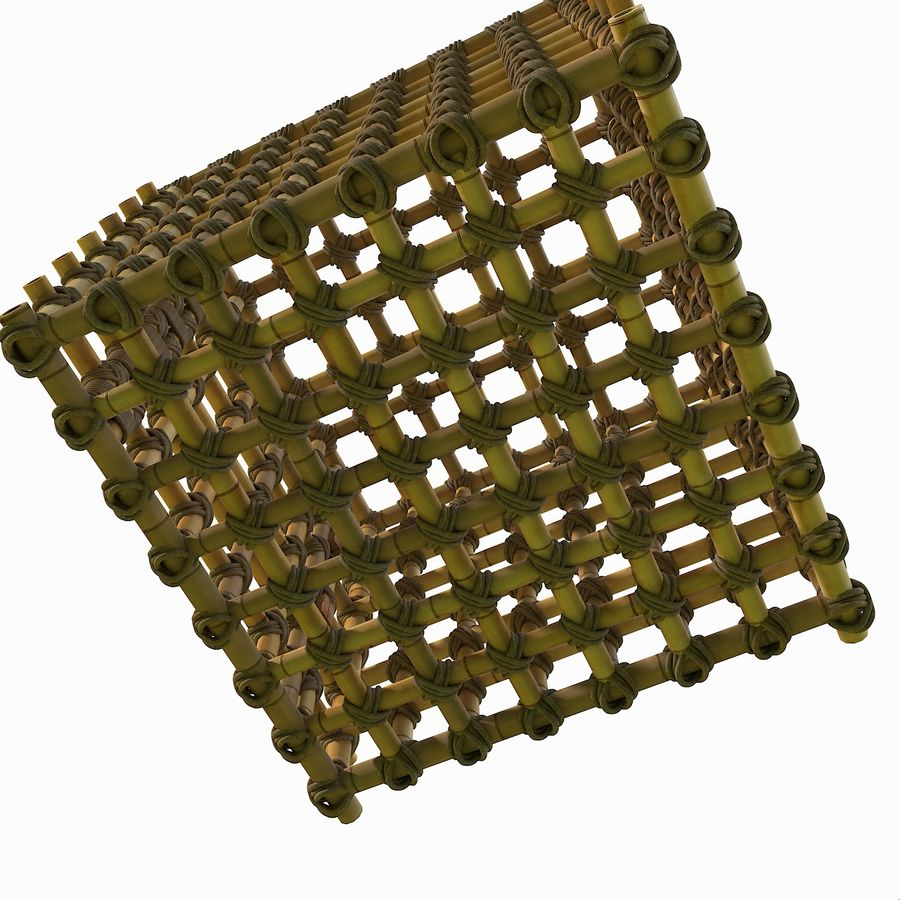 Jungle Bamboo Cage royalty-free 3d model - Preview no. 6