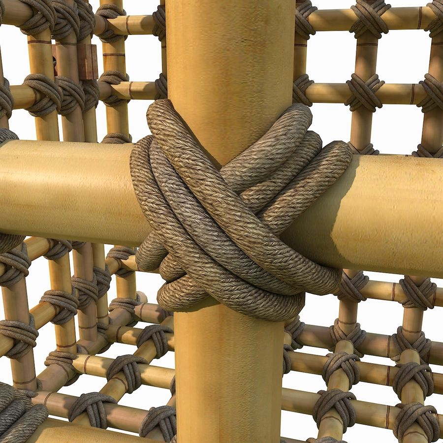 Jungle Bamboo Cage royalty-free 3d model - Preview no. 9