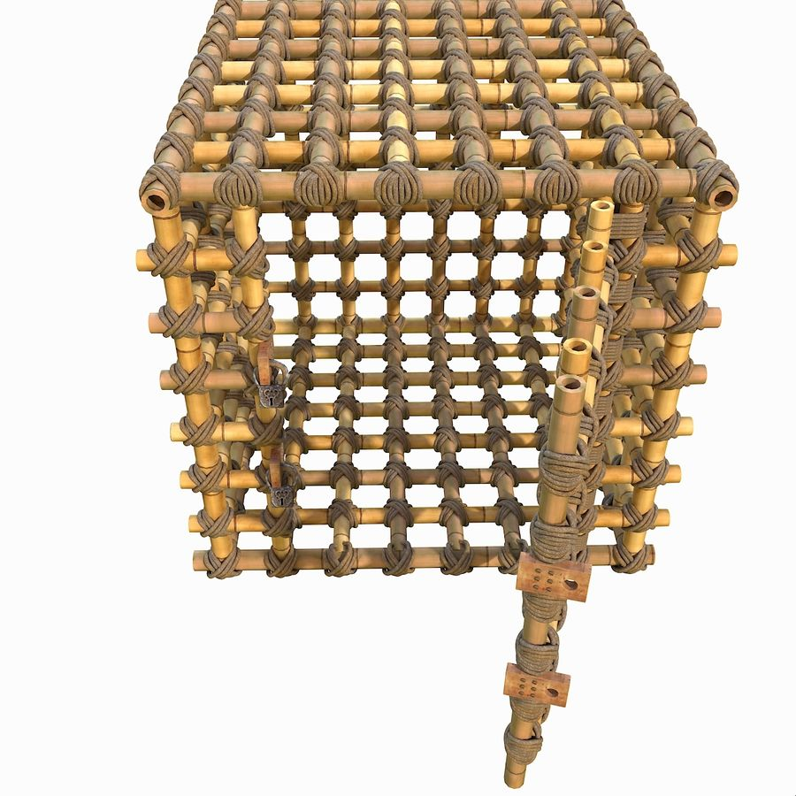 Jungle Bamboo Cage royalty-free 3d model - Preview no. 14