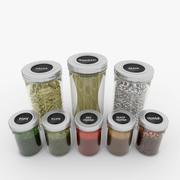 Spice Jars Set 3d model