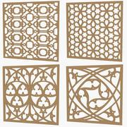 Set di pannello decorativo 3d model