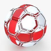 Soccerball dissasembled England 3d model