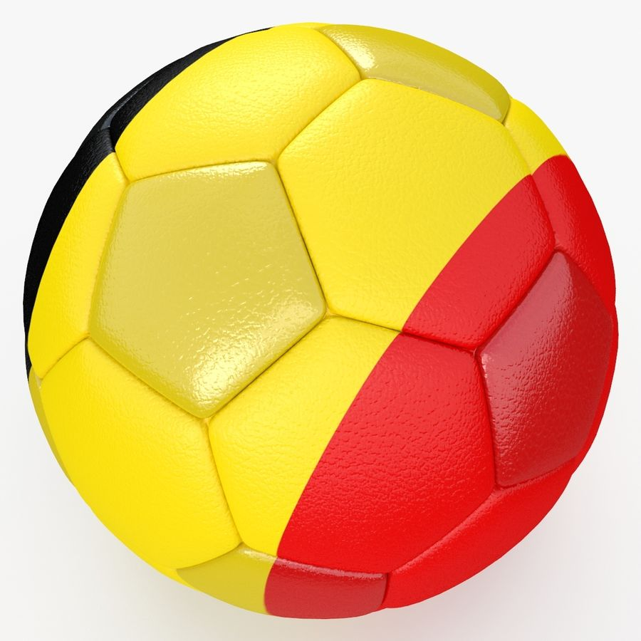 Soccerball Belgique royalty-free 3d model - Preview no. 4