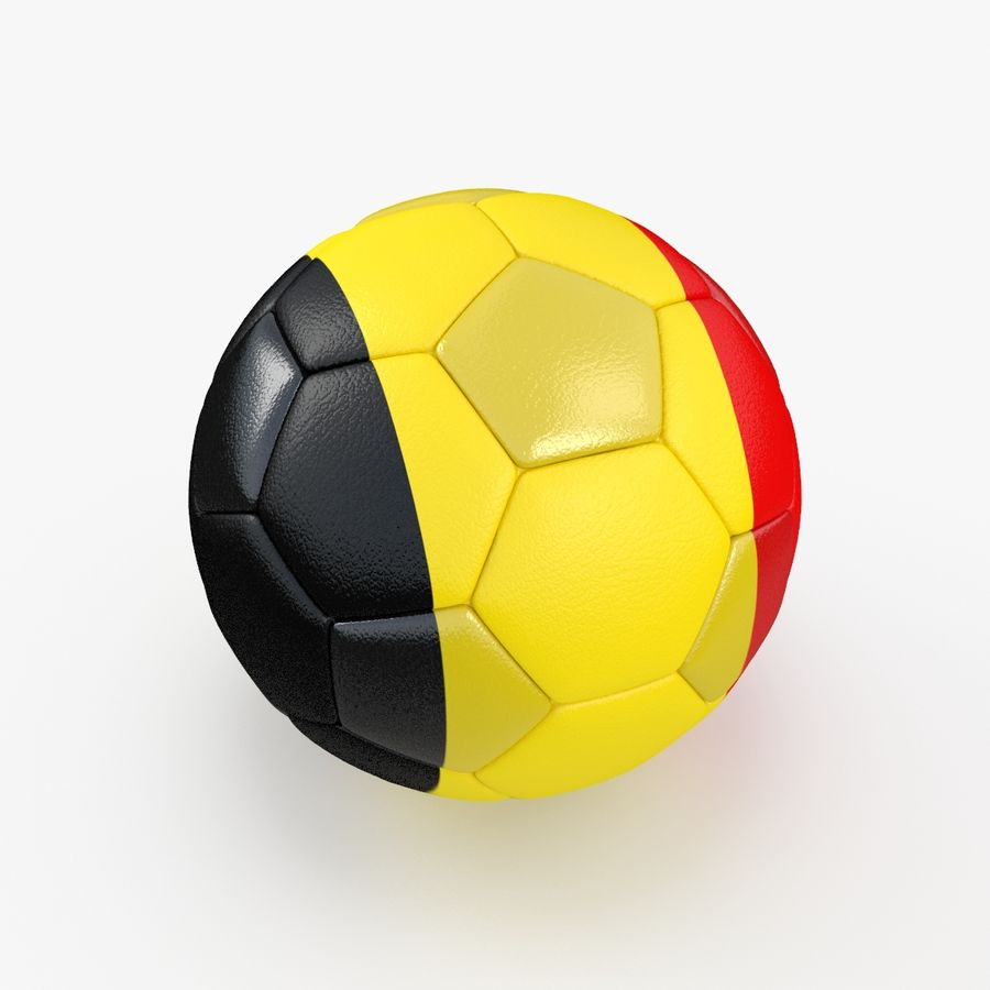 Soccerball Belgique royalty-free 3d model - Preview no. 5