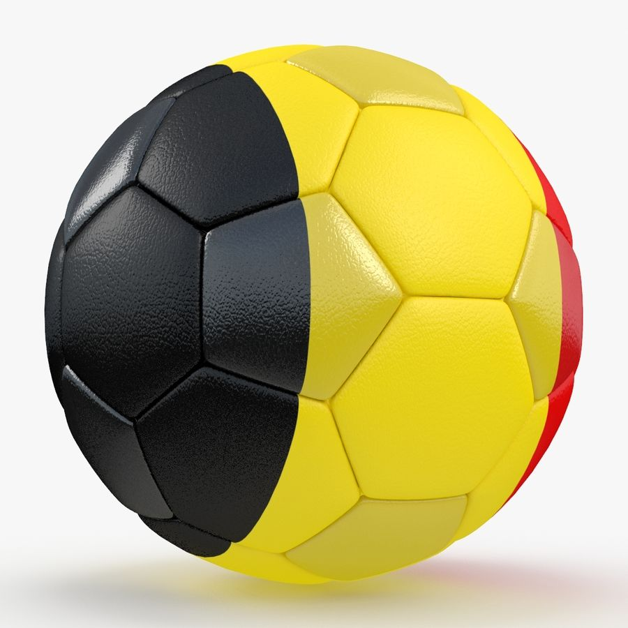 Soccerball Belgique royalty-free 3d model - Preview no. 6