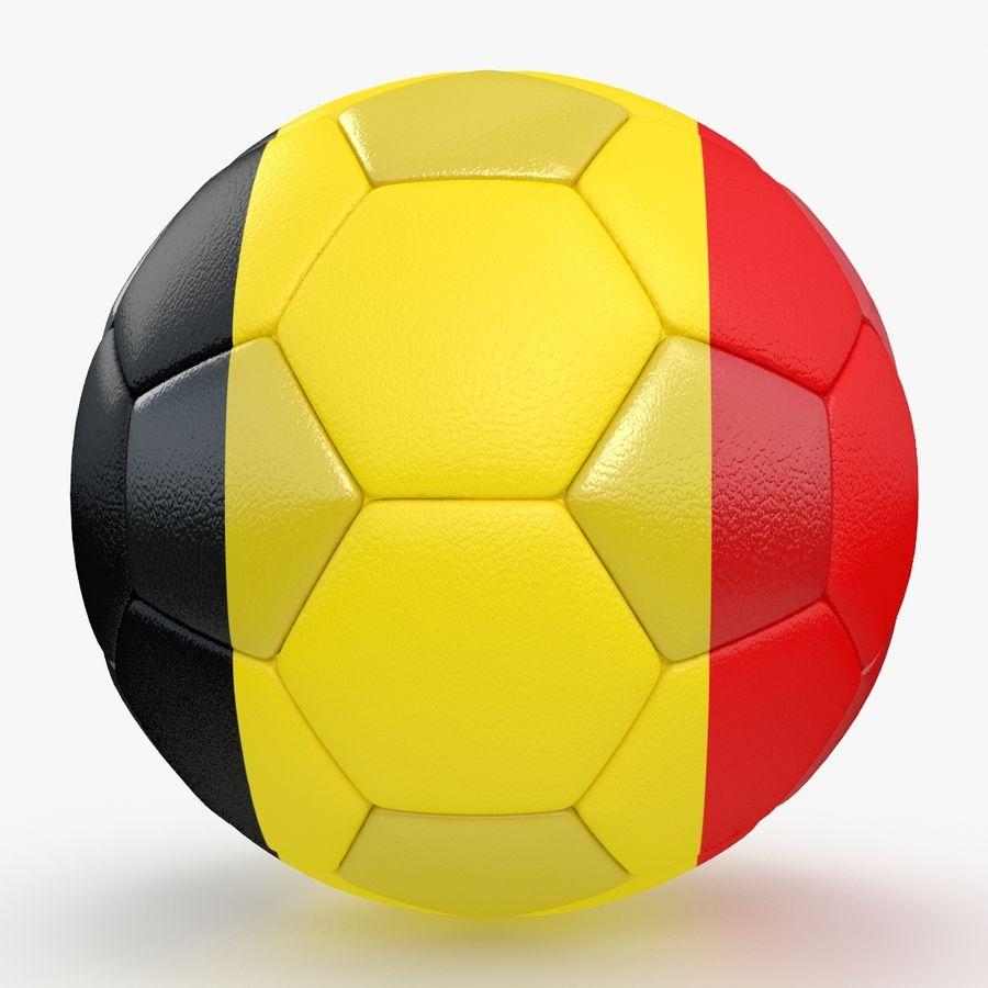 Soccerball Belgique royalty-free 3d model - Preview no. 1