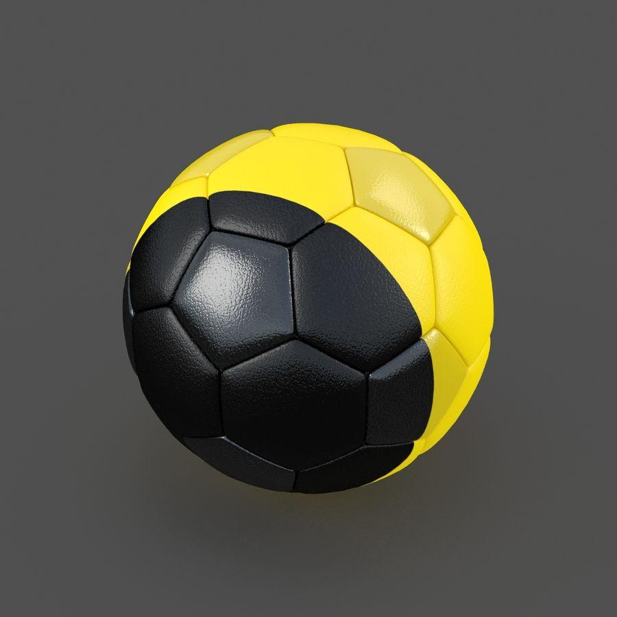 Soccerball Belgique royalty-free 3d model - Preview no. 2