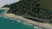 Sahil dağ yolu 3d model