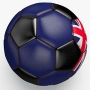 Soccerball pro preto limpo na Austrália 3d model