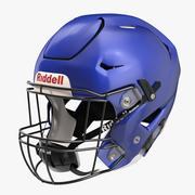 Casque Riddel Speedflex Bleu 3d model