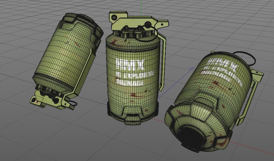 Grenade royalty-free 3d model - Preview no. 8