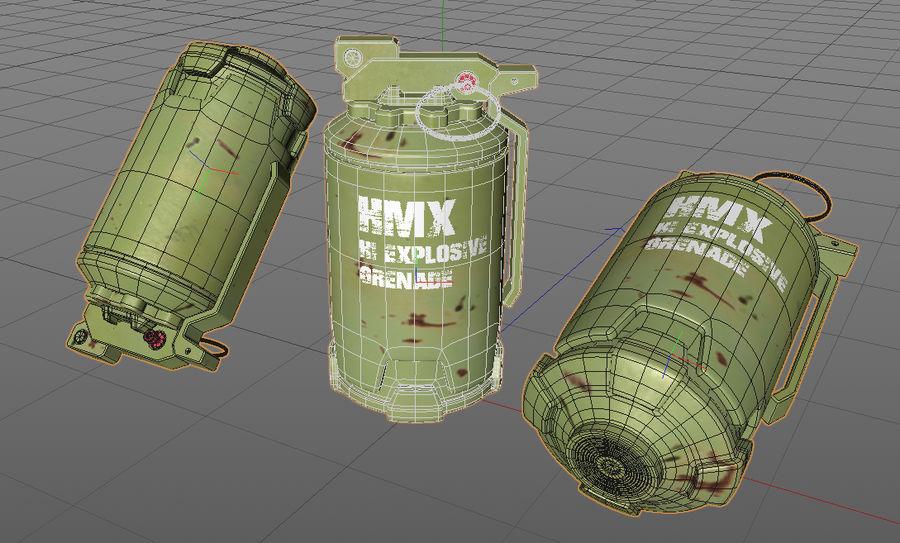 Grenade royalty-free 3d model - Preview no. 7