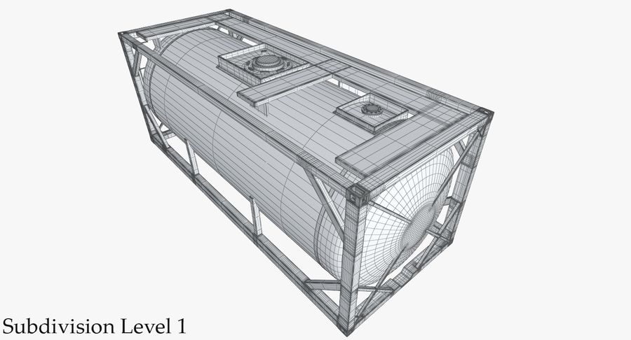 Tank Container 1 royalty-free 3d model - Preview no. 30