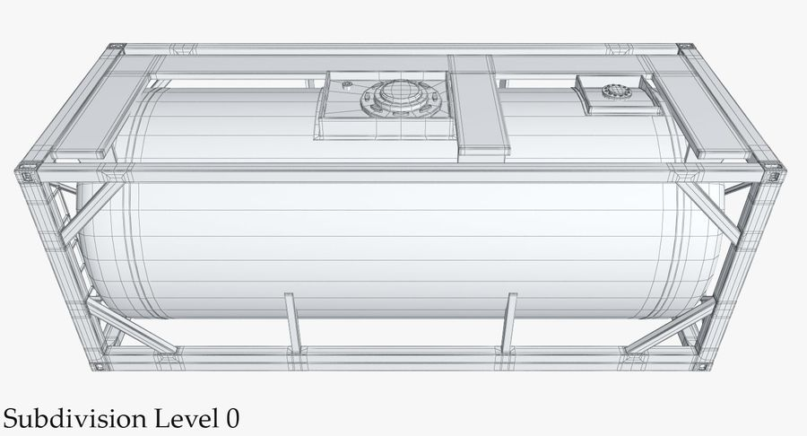 Tank Container 1 royalty-free 3d model - Preview no. 17