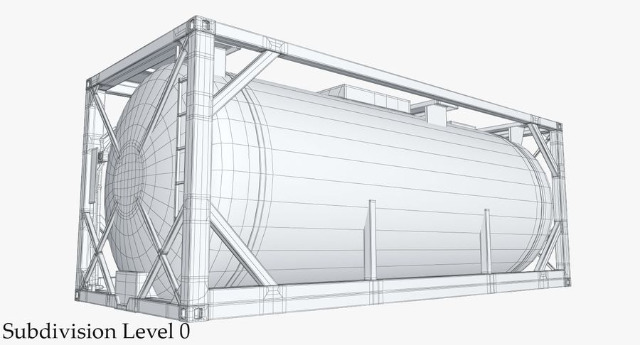Tank Container 1 royalty-free 3d model - Preview no. 13
