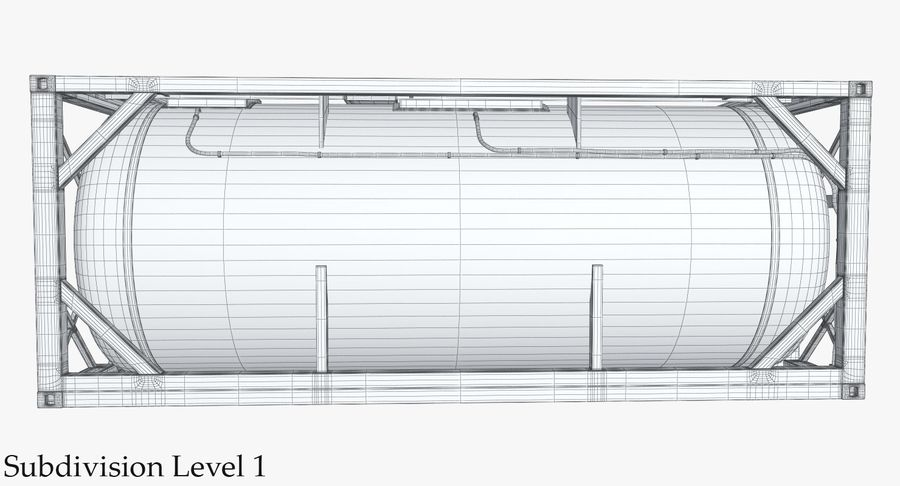 Tank Container 1 royalty-free 3d model - Preview no. 26