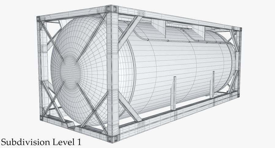 Tank Container 1 royalty-free 3d model - Preview no. 22