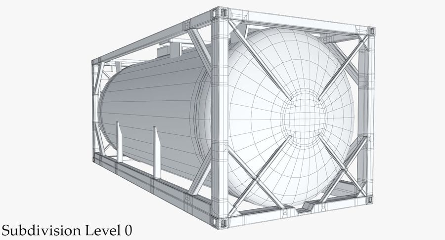 Tank Container 1 royalty-free 3d model - Preview no. 19