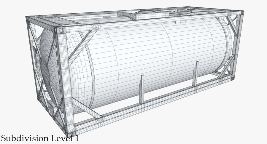 Tank Container 1 royalty-free 3d model - Preview no. 16