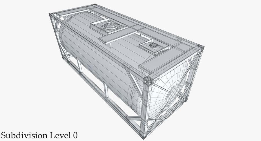 Tank Container 1 royalty-free 3d model - Preview no. 29