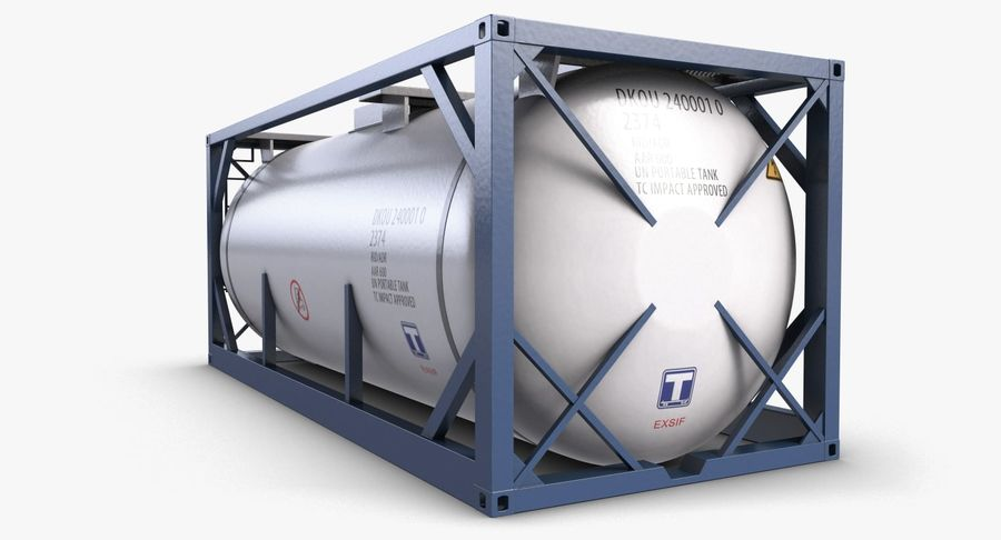 Tank Container 1 royalty-free 3d model - Preview no. 3