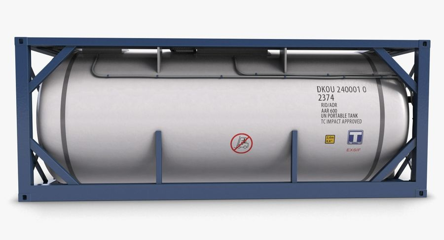 Tank Container 1 royalty-free 3d model - Preview no. 9