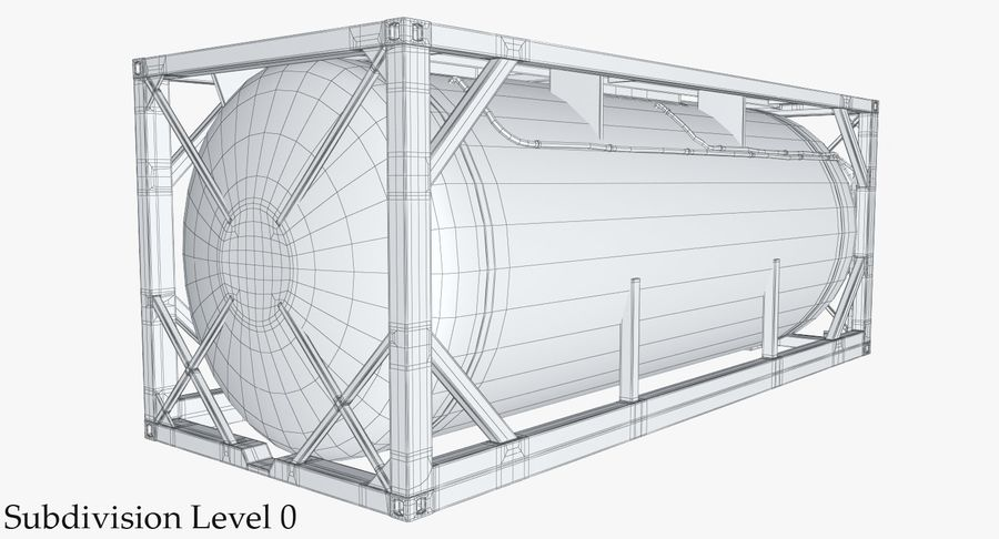 Tank Container 1 royalty-free 3d model - Preview no. 21