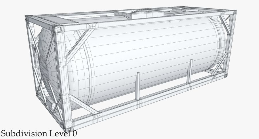 Tank Container 1 royalty-free 3d model - Preview no. 15