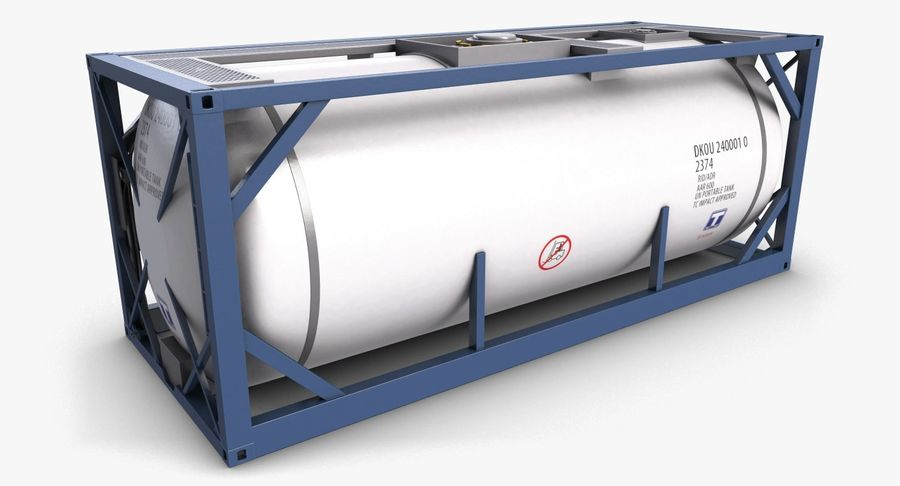 Tank Container 1 royalty-free 3d model - Preview no. 1