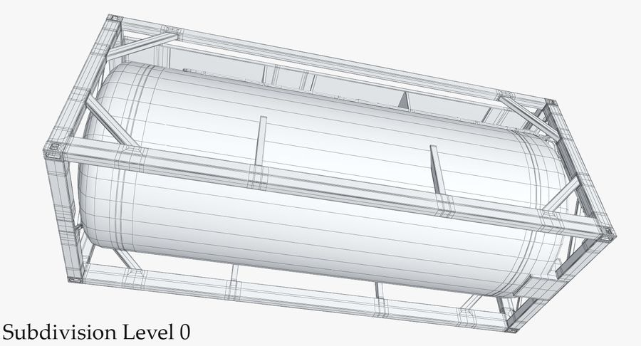 Tank Container 1 royalty-free 3d model - Preview no. 23