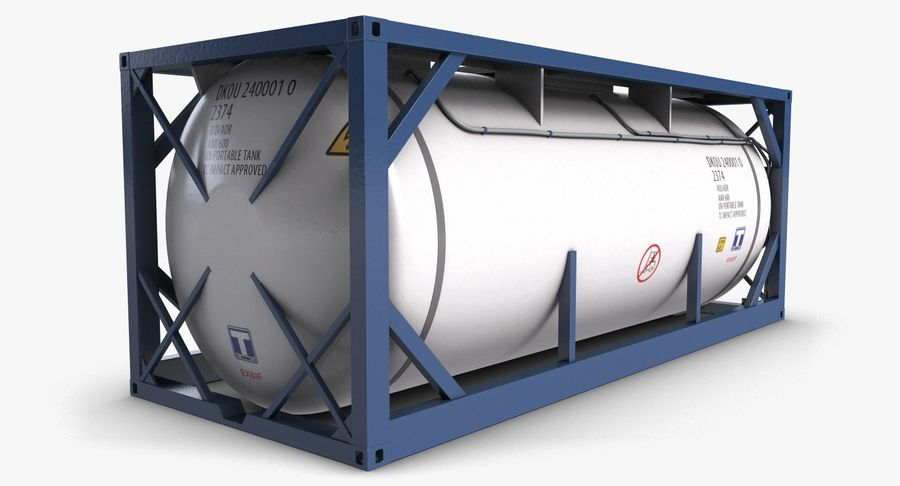 Tank Container 1 royalty-free 3d model - Preview no. 7
