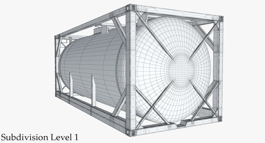 Tank Container 1 royalty-free 3d model - Preview no. 20