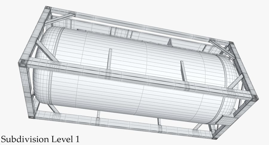 Tank Container 1 royalty-free 3d model - Preview no. 24