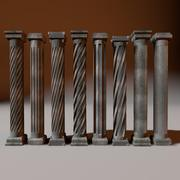 Column Set 01 3d model