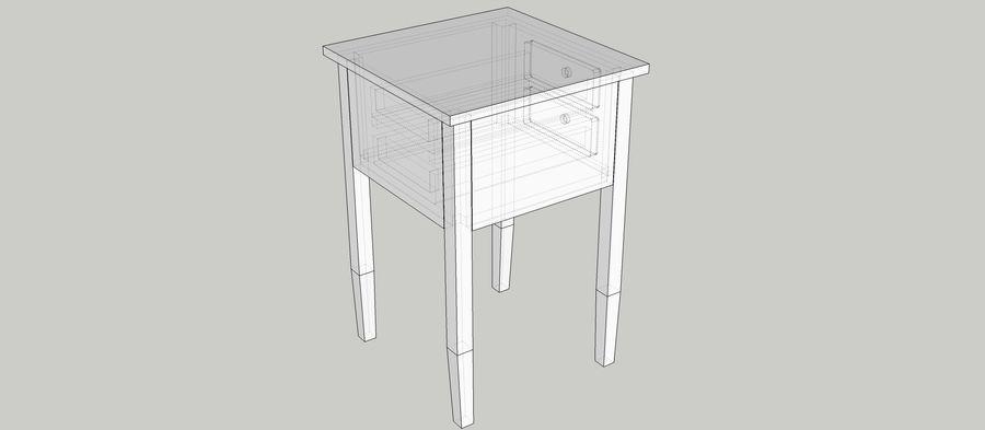Mesa de cabeceira royalty-free 3d model - Preview no. 4