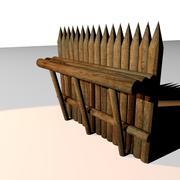 muro de defesa 3d model