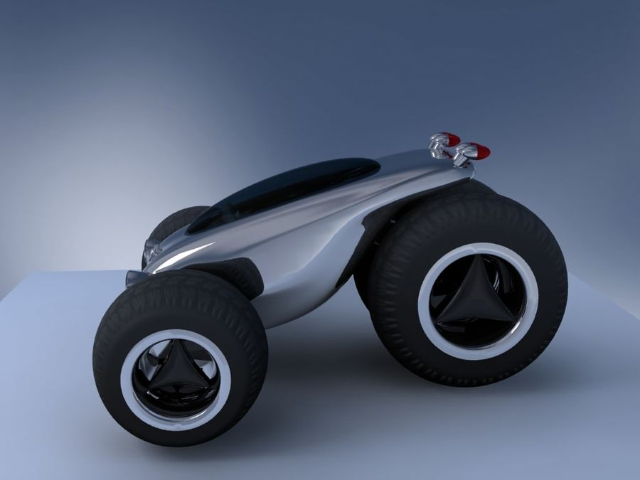 Sci Fi car concept royalty-free 3d model - Preview no. 1