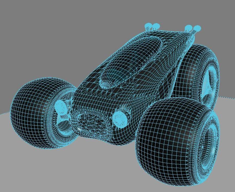 Sci Fi car concept royalty-free 3d model - Preview no. 13