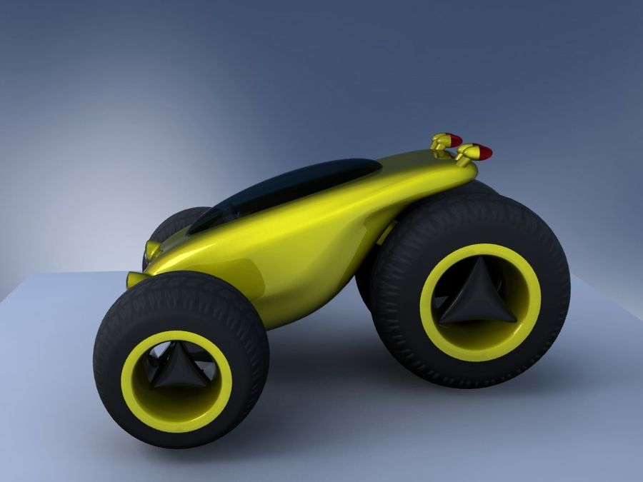 Sci Fi car concept royalty-free 3d model - Preview no. 8