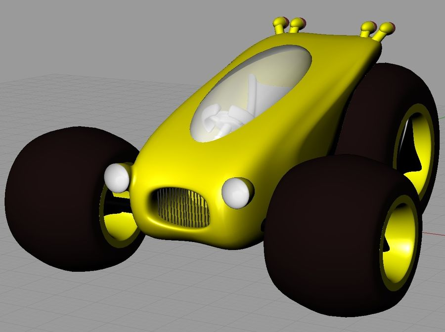 Sci Fi car concept royalty-free 3d model - Preview no. 14