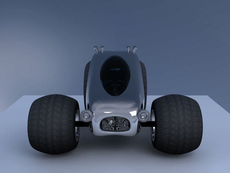 Sci Fi car concept royalty-free 3d model - Preview no. 6