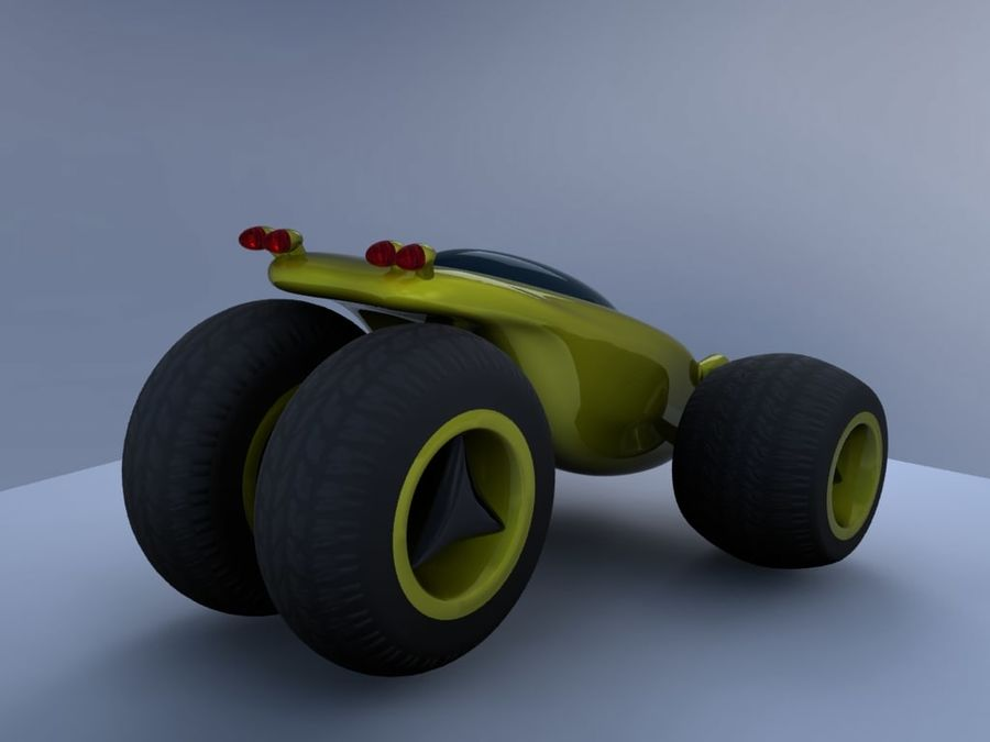 Sci Fi car concept royalty-free 3d model - Preview no. 10