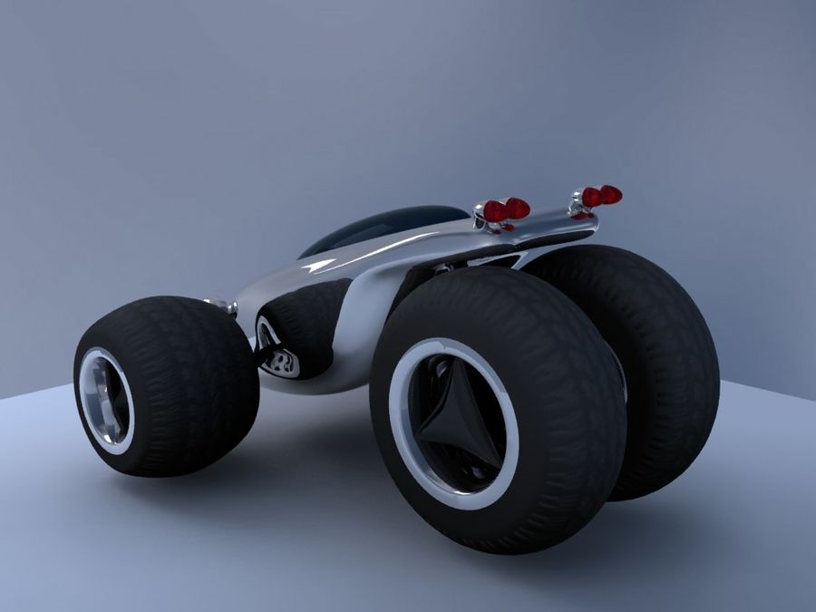 Sci Fi car concept royalty-free 3d model - Preview no. 3