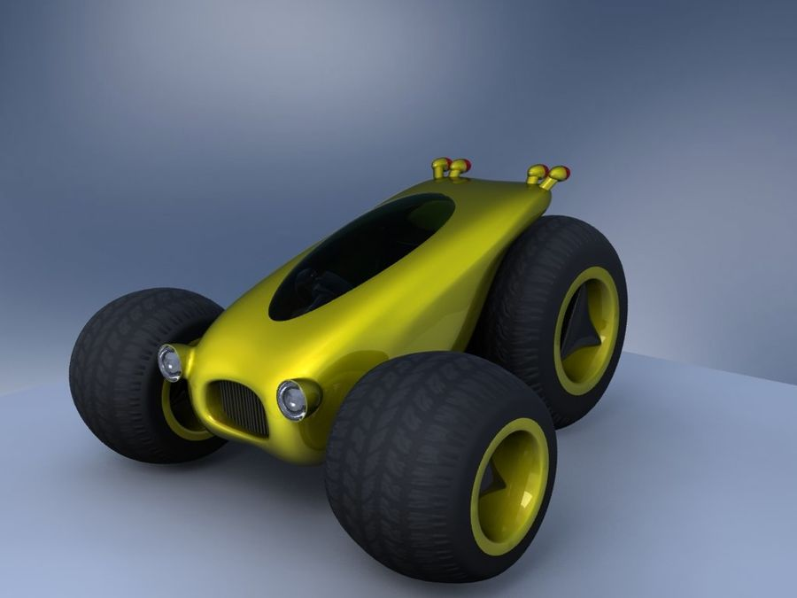 Sci Fi car concept royalty-free 3d model - Preview no. 12