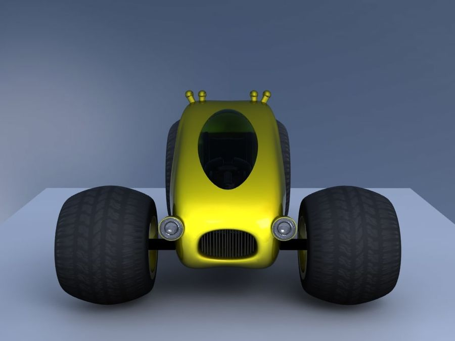 Sci Fi car concept royalty-free 3d model - Preview no. 11