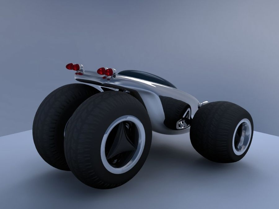 Sci Fi car concept royalty-free 3d model - Preview no. 5