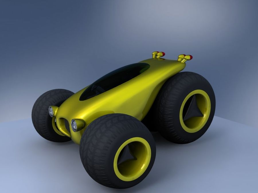 Sci Fi car concept royalty-free 3d model - Preview no. 7