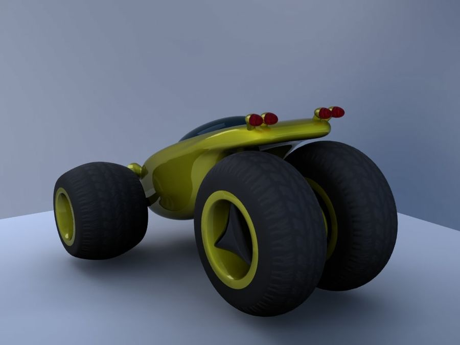 Sci Fi car concept royalty-free 3d model - Preview no. 9