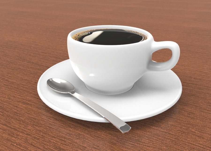 coffe cup royalty-free 3d model - Preview no. 1